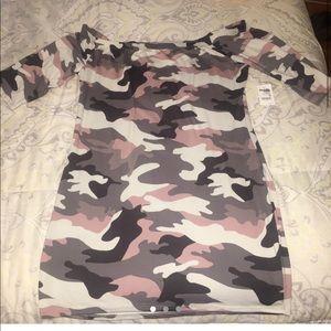 Camo Print Bodycon Dress